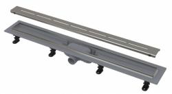 Alcaplast APZ1-750 SIMPLE Podlahový žlab s nerezovým okrajem pro perforovaný rošt 750mm