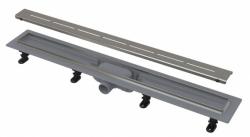 Alcaplast APZ1-950 SIMPLE Podlahový žlab s nerezovým okrajem pro perforovaný rošt 950mm