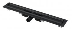Alcaplast APZ101BLACK-300 Podlahový žlab s okrajem pro perforovaný rošt, černá mat 300mm