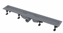 Alcaplast APZ12-850 OPTIMAL Podlahový žlab s okrajem pro perforovaný rošt nebo vložení dlažby, délka 850mm