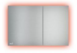 Alcaplast Ovládací tlačítko AIR LIGHT Ovládací tlačítko pro předstěnové instalační systémy s podsvícením, kov-mat