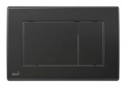 ALCAPLAST Ovládací tlačítko pro předstěnové instalační systémy (černá - mat) - M278