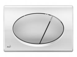ALCAPLAST Ovládací tlačítko pro předstěnové instalační systémy (chrom - kombinace: deska - lesk, tlačítko - mat) - M73