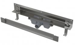 Alcaplast SPA-TWIN Odtokový systém pro zabudování do stěny a vložení obkladu APZ5-TWIN-650, nerez mat, délka 650 mm
