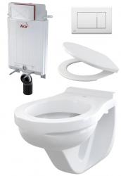 Alcaplast Závěsné wc komplet - set A102 (do bytových jader a dřevostaveb)