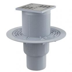 Alcaplast APV2321 Podlahová vpust 105×105/50/75 mm, přímá, mřížka nerez, kombinovaná zápachová uzávěra SMART