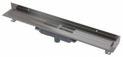 APZ1116-850 Wall Low Podlahový žlab s okrajem pro plný rošt a s pevným límcem ke stěně, svislý odtok, délka 850 mm