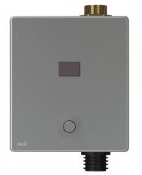 Alcaplast Automatický splachovač WC s manuálním ovládáním, kov, 12 V (napájení ze sítě) ASP3-KT
