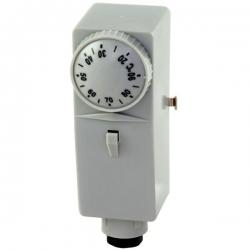 BB1-1000 provozní termostat příložný, zvýšená citlivost 17-90 stupňů Celsia, teplovodivá pasta 10811