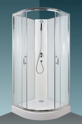 BRILIANT Sprchový box - model 1 clear, 88 x 88 x 209 cm, čiré/bílé sklo, rám alu