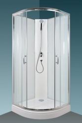 Arttec BRILIANT Sprchový box - model 1 clear, 88 x 88 x 209 cm, čiré/bílé sklo, rám alu