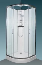 BRILIANT Sprchový box - Termo clear, 88 x 88 x 233 cm, čiré/bílé sklo, rám alu