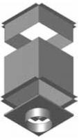 Atrea CPK Cirkulační přechodová komora 375x375 pro rozdělovací komoru s dolním přívodem R144161