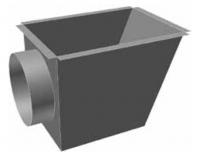 Atrea CPK Cirkulační přechodová komora 370 x 260 ø 160 pro rozdělovací komoru s dolním přívodem R144162