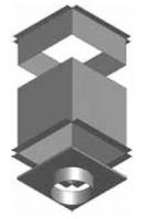 Atrea CPK Cirkulační přechodová komora 285 x 285 ø 125 pro rozdělovací komoru s dolním přívodem R144420