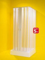 Olsen-Spa Sprchová zástěna třístranná SATURNO, 80-60 x 90-70 x 80-60 x 185 cm, výplň plast, rám plast