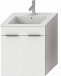 JIKA Cube skříňka s 2 dveřmi s umyvadlem 55 x 43 cm, úchytky antracit