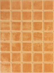 Dekor Rako Patina cihlová 25x33 cm, mat