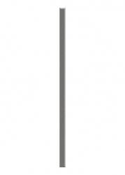 Dekorace Universální Listela Sklo Grafit 2,3x60