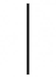 Paradyz Dekorace Universální Listela Sklo Nero 2,3x60