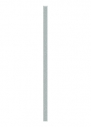 Dekorace Universální Listela Sklo Silver 2,3x60