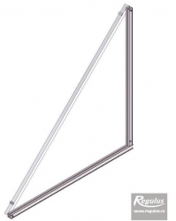 Držák trojúhelníkový 45 stupňů - KPG1 na ležato a KPC1H+  11072