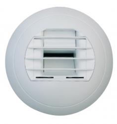 Elektricky ovládaný talířový ventil plastový, odvodní, bílý - BM2D