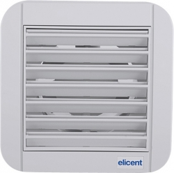 ELICENT Nástěnný ventilátor ECOLINE, 120 mm, elektricky ovládaná žaluzie