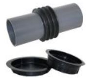 Gerotop FE/LLL Prostupová pažnice, bílá vana, pro vodorovné i svislé konstrukce
