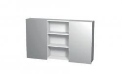 Intedoor Galerka - zrcadlová skříňka NY ZS 120 (120x72x14 cm) bílá
