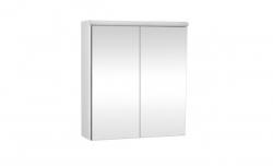 Krajcar Galerka - zrcadlová skřínka Z5.90 s LED osvětlením, 90x65x17cm, bílá
