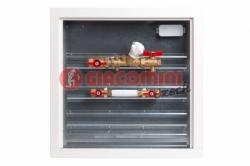 Giacomini GE555Y Modul pro měření spotřeby tepla s vyvažovacím ventilem, zónovým kulovým kohoutem a filtrem