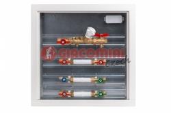 """Giacomini GE555YW210CZ Modul pro měření spotřeby tepla s vyvažovacím ventilem, sestavy TV + SV 3/4"""""""