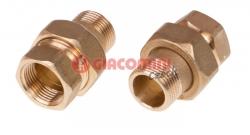 Giacomini R153-S Sada 2 ks šroubení pro redukční ventil řady R153