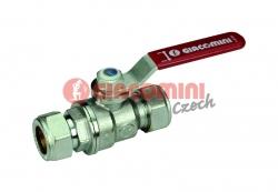 Giacomini R258CC Kulový kohout pro měděné trubky, svěrné spoje, chromovaný