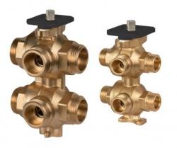 Giacomini R274N Šesticestný zónový ventil pro čtyřtrubkové topné systémy, nebo přepínání zdrojů topení/chlazení