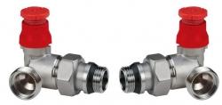 Giacomini R403PTG Termostatický ventil, dvouregulační, úhlový, s víčkem, gumové těsnění