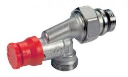 """Giacomini R415PTG Termostatický ventil dvouregulační 1/2""""x16, rohový, osa hlavy přímá, s víčkem, gumové těsnění"""