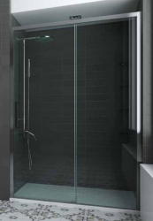 Hopa Sprchové dveře posuvné Urban Essence N1FS 155,5-160x200cm, sklo čiré, rám mat Alu