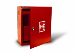 Kovo-Lemini Hydrantová skříň D19 – stálotvará hadice, 650x650x175
