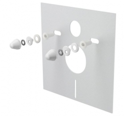 Izolační deska pro závěsné WC a bidet s příslušenstvím a krytkou (bílá) M930