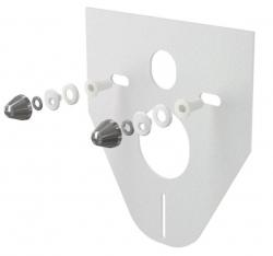 Izolační deska pro závěsné WC a bidet s příslušenstvím a krytkou (chrom) M910CR