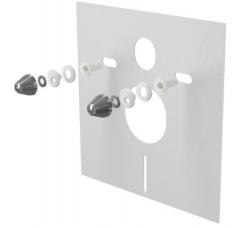 Izolační deska pro závěsné WC a bidet s příslušenstvím a krytkou (chrom) M930CR
