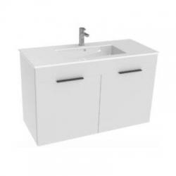 JIKA Cube skříňka s 2 zásuvkami s umyvadlem 100 x 43 cm bílá, úchytky antracit