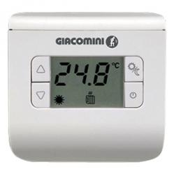 Giacomini K494 Prostorový termostat, oddělené relé 5(3)A/250V, bateriové napájení