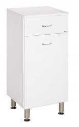 Keramia Nízká skříňka s košem Pro 35 cm, bílá PRON35K