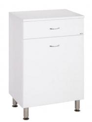 Keramia Nízká skříňka s košem Pro 50 cm, bílá PRON50K