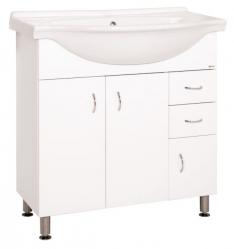 Keramia Skříňka s umyvadlem Pro 80 cm, bílá PRO80DV