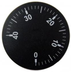Knoflík čočkový černý, 0-40°C  1145