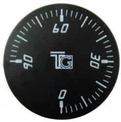 Knoflík čočkový černý 6965.00.2A, 0-90 stupňů 1472